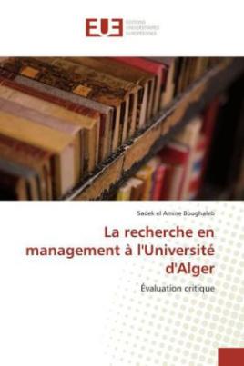 La recherche en management à l'Université d'Alger