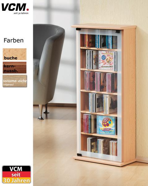cd schrank classic kern nussbaum f r 150 cds. Black Bedroom Furniture Sets. Home Design Ideas