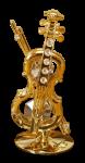 Goldfigur Violine mit Swarovski Kristallen