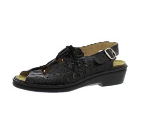 Sandalen aus Lackleder schwarz Größe 41