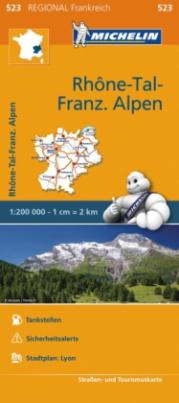 Michelin Karte Rhone-Tal, Französische Alpen