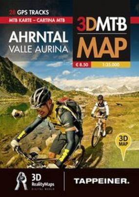 Moutainbike-Karte Ahrntal. Cartina Mountainbike Valle Aurina