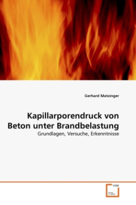 Kapillarporendruck von Beton unter Brandbelastung