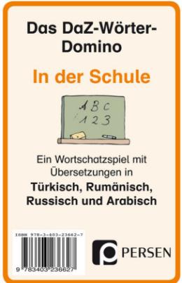 Das DaZ-Wörter-Domino: In der Schule, Kartenspiel