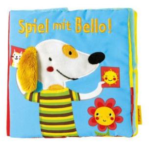 Spiel mit Bello!, Stoffbilderbuch