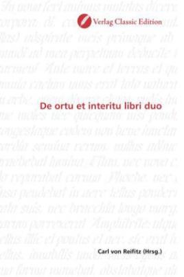 De ortu et interitu libri duo