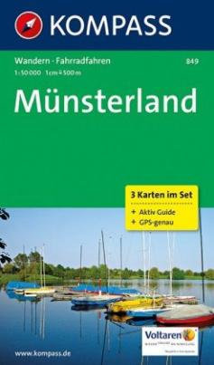 Kompass Karte Münsterland, 3 Bl. m. Kompass Naturführer Wiesenblumen