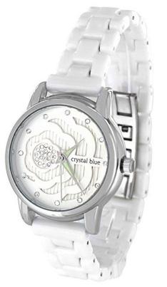 Damen Keramik Armband Uhr weiss