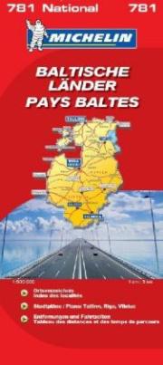 Michelin Karte Baltische Länder. Pays Baltes