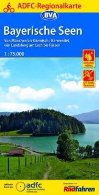 ADFC-Regionalkarte Bayerische Seen