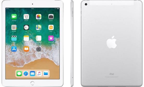 """APPLE Tablet """"iPad"""" (9,7 Zoll, Wi-Fi + Cellular, 128 GB, 6. Generation, silberfarben)"""