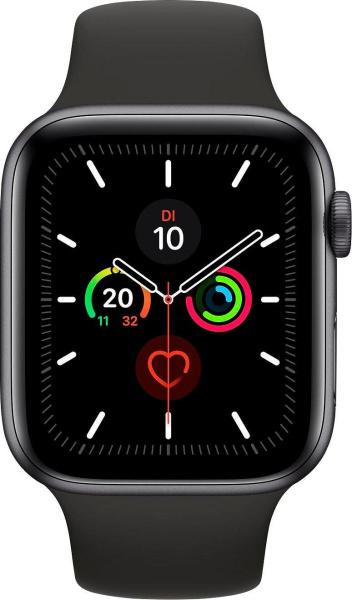 "APPLE Smart Watch ""Watch Series 5"" (GPS + Cellular, 44 mm, Aluminiumgehäuse, space grau/schwarz)"