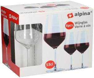 Rotweinglas 6er-Set »Alpina«