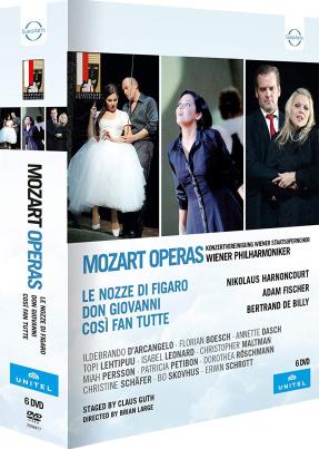 Mozart Opern: Cosi fan tutte - Don Giovanni - Le nozze di Figaro