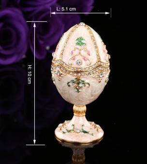 Schmuckei im Stil eines Fabergé-Ei weiß