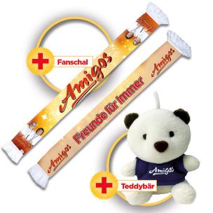 Amigos Fanset (Schal+Teddy-Anhänger)