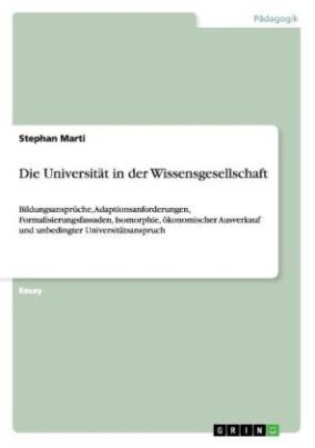 Die Universität in der Wissensgesellschaft