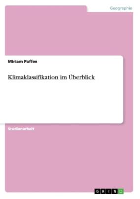 Klimaklassifikation im Überblick