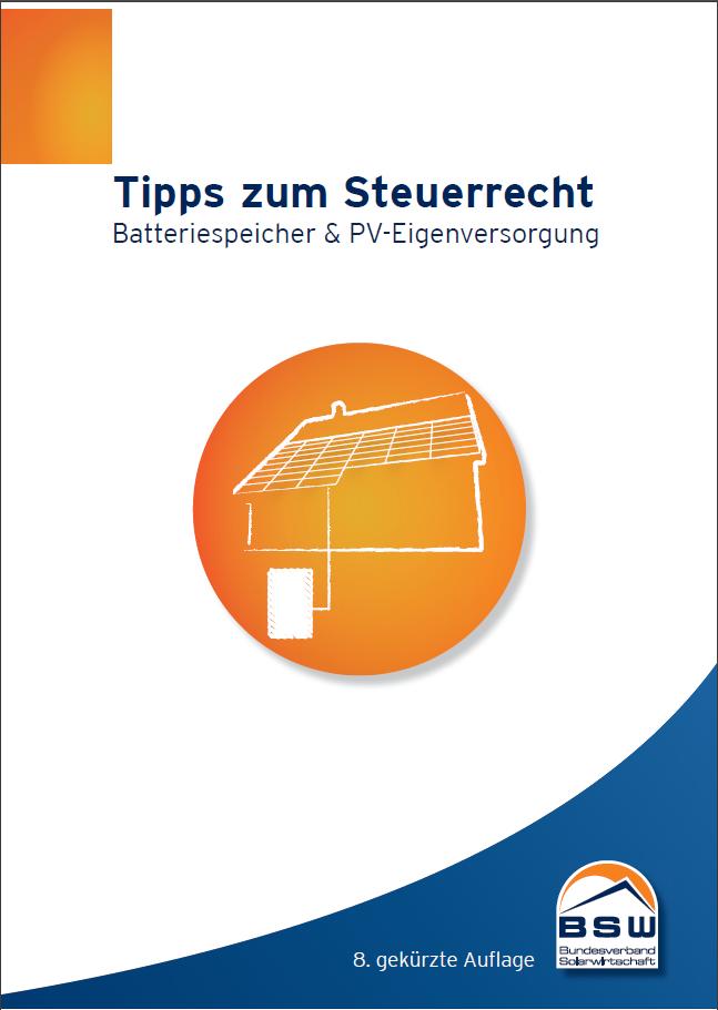 Steuermerkblatt Photovoltaik 8. gek. Auflage