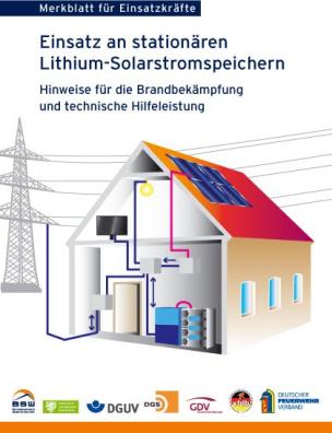 Merkblatt für Einsatzkräfte – Einsatz an stationären Lithium-Solarstromspeicher