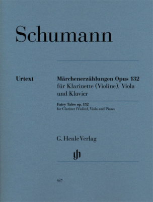 Märchenerzählungen op.132 für Klarinette (Violine), Viola u. Klavier, Klavierpartitur und Stimmen