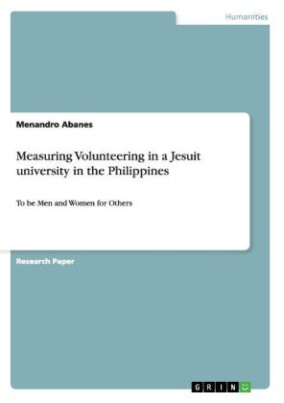 Measuring Volunteering in a Jesuit university in the Philippines