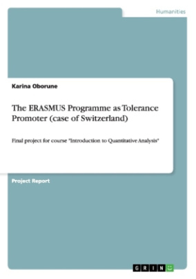 The ERASMUS Programme as Tolerance Promoter (case of Switzerland)