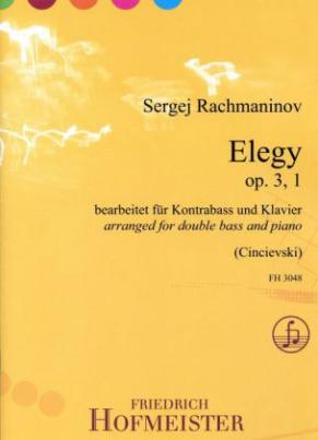 Elegy op. 3, 1, für Kontrabass + Klavier