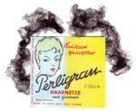 2 Perligran-Haarnetze, hellbraun