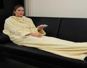 fleece decke mit rmeln vanille. Black Bedroom Furniture Sets. Home Design Ideas