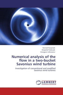Numerical analysis of the flow in a two-bucket Savonius wind turbine