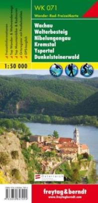 Freytag & Berndt Wander-, Rad- und Freizeitkarte Wachau, Welterbesteig, Nibelungengau, Kremstal, Yspertal, Dunkelsteinerwald