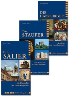 Die Salier / Die Staufer / Die Habsburger, 3 Bde.