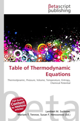 Table of Thermodynamic Equations