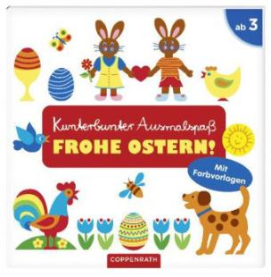 Kunterbunter Ausmalspaß: Frohe Ostern!