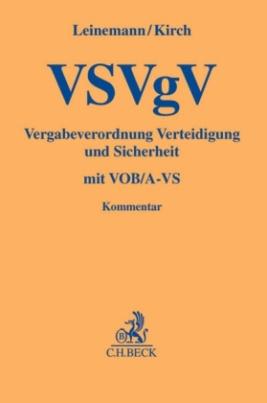VSVgV Vergabeverordnung Verteidigung und Sicherheit, Kommentar
