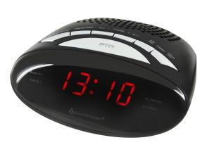 Uhrenradio, Festsenderspreicher, Dualalarm, sleep, snooze - Schwarz