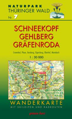 Wanderkarte mit Loipen und Radrouten: Thüringer Wald Nr.7