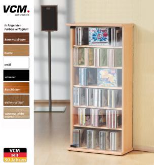 """CD-Schrank """"Vetro - eiche-rustikal"""" für 150 CDs"""