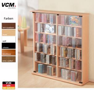 """CD-Schrank """" Roma - sonoma eiche (sägerau)"""" für 300 CDs"""
