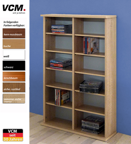cd dvd regal ronul kirschbaum 300 cds ohne glast r. Black Bedroom Furniture Sets. Home Design Ideas